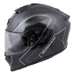 EXO-ST1400 Carbon Motorcycle Helmet Antrim Graphic Grey Front
