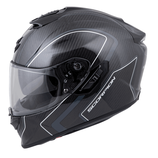 EXO-ST1400 Carbon Motorcycle Helmet Antrim Graphic Grey Front