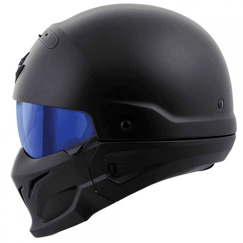 Covert Helmet Blue Mirrored Shield