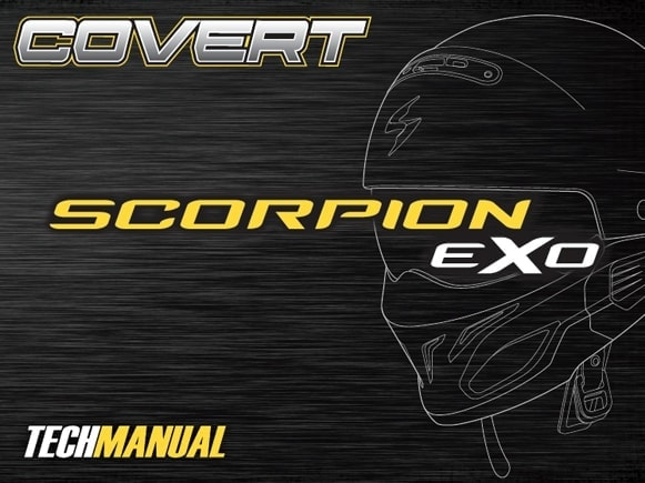Scorpion Exo Covert Motorcycle Helmet Manual Front Cover