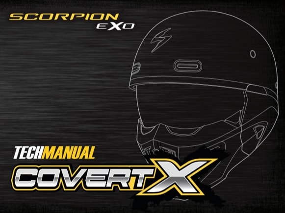 Scorpion Exo Covert X Motorcycle Helmet Manual Front Cover
