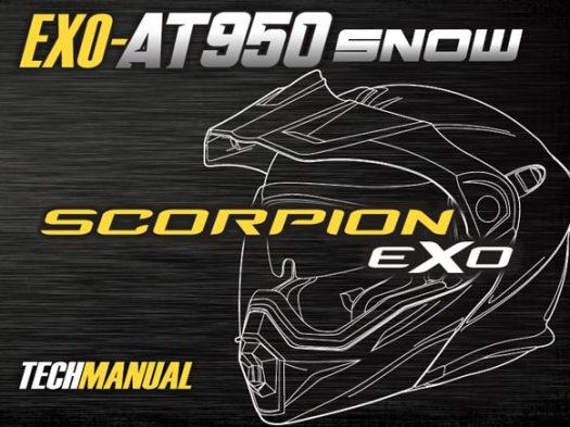 Scorpion Exo EXO-AT950 Snow Helmet Manual Front Cover