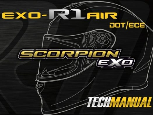 Scorpion Exo EXO-R1 Air Motorcycle Helmet Manual Front Cover