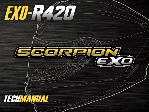 Scorpion Exo EXO-R420 Motorcycle Helmet Manual Front Cover
