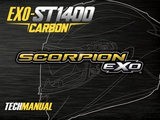 Scorpion Exo EXO-ST1400 Motorcycle Helmet Manual Front Cover